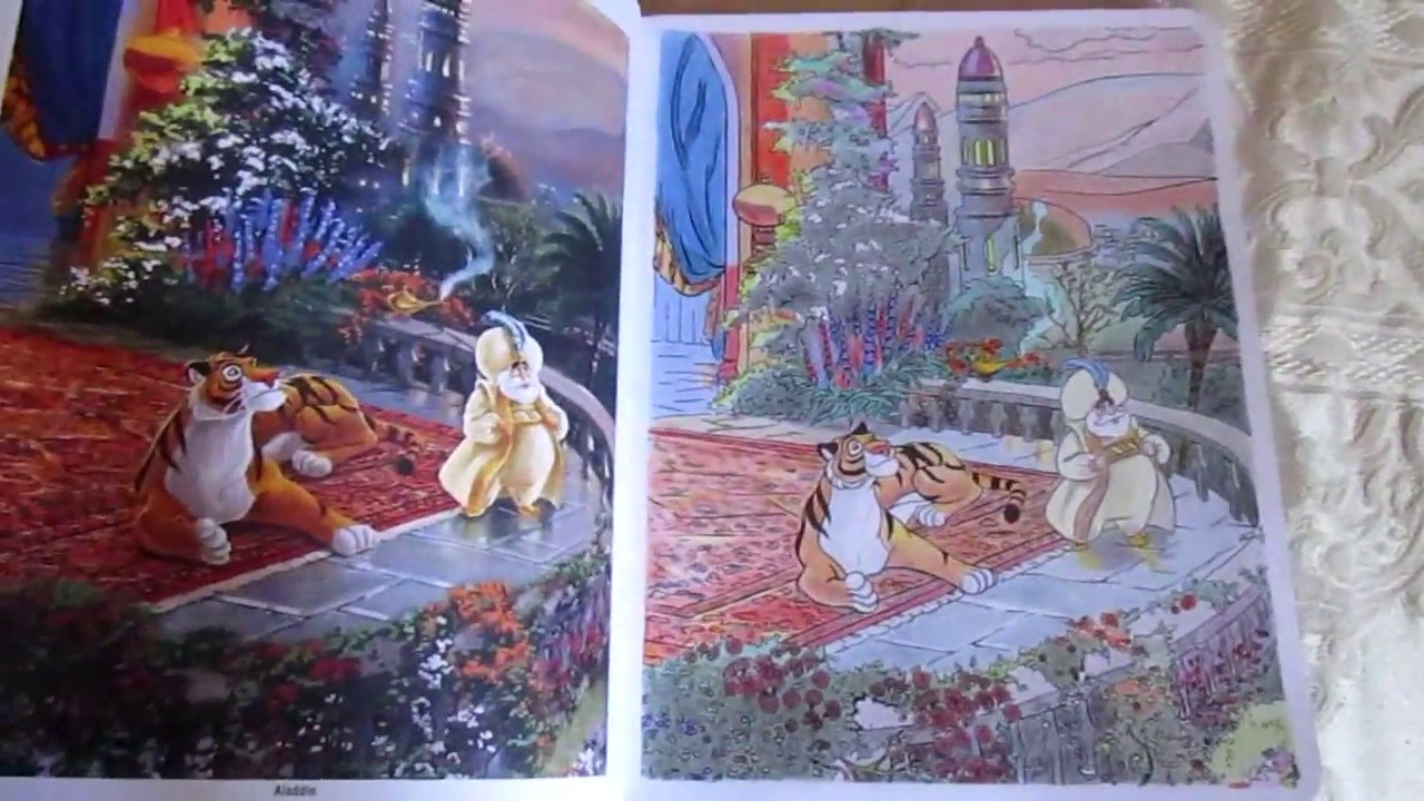 Thomas Kinkade Disney coloring book. First 10 colored pages
