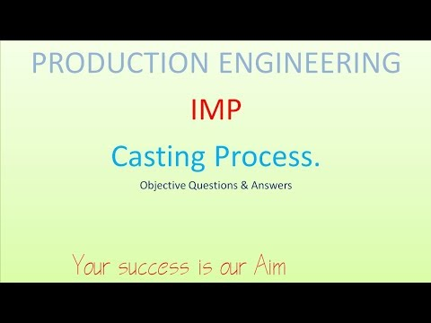 production engineering (CASTING PROCESS ) objective questions and Answers