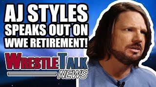 aj styles speaks out on wwe retirement rumors   wrestletalk news dec 2017