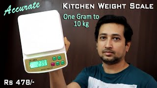 Best Accurate Digital Kitchen Weighing Scale Unboxing & Review (With Accuracy Proof) in Hindi