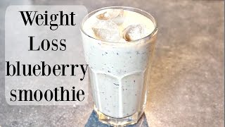 My weight loss healthy breakfast smoothie