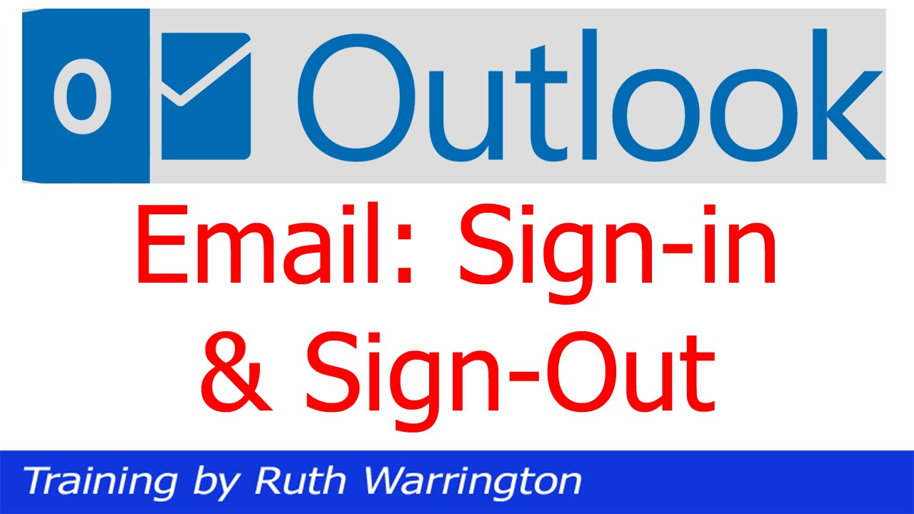 picture How to Log Out of Outlook