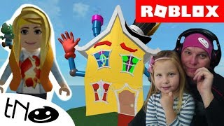 ESCAPE from The CRAZY LITTLE House-The Crazy FunHouse Obby! | Roblox | Daddy and Barunka