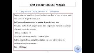 Tef / Tef Canada - Section A, Expression Orale : CONVERSATION - N°5