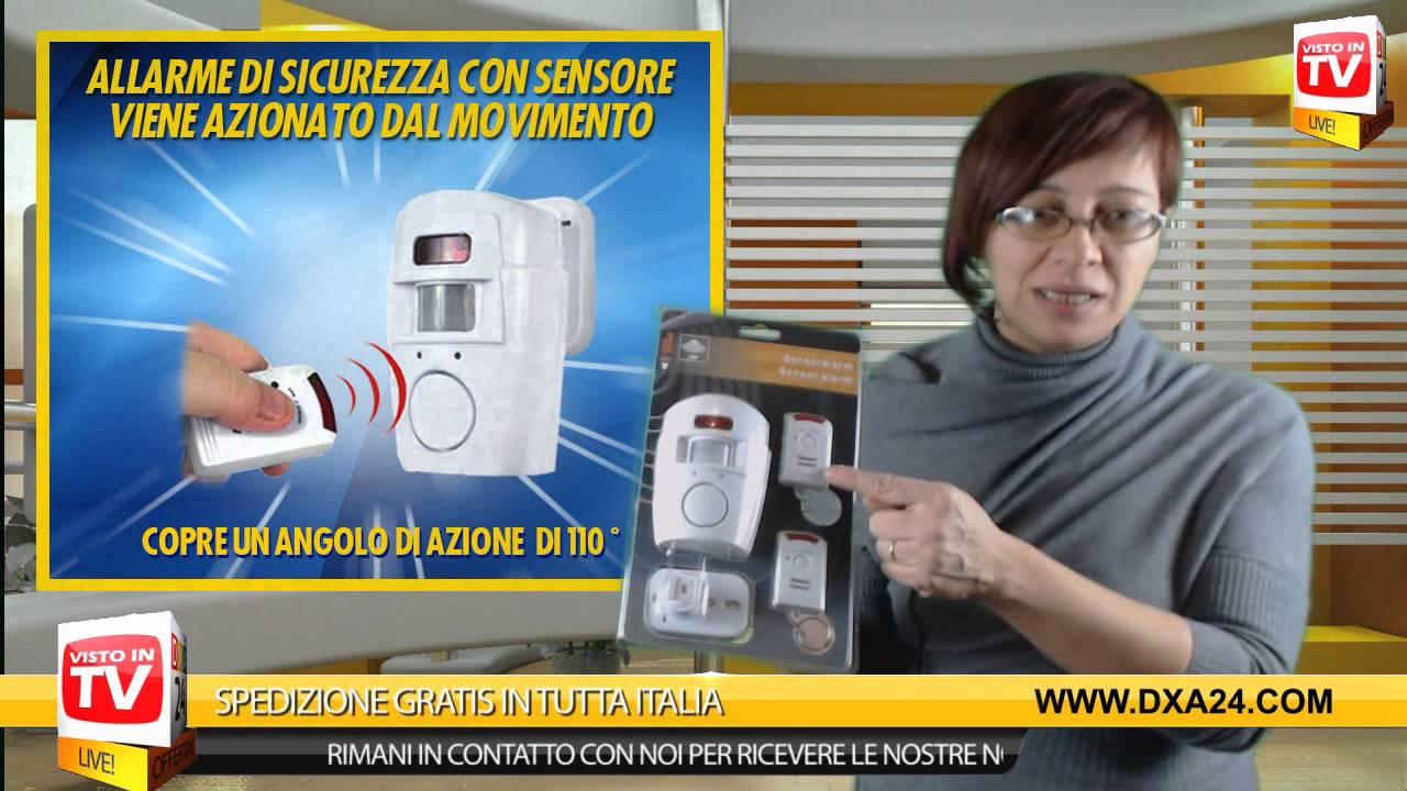 Allarme di sicurezza con sensore di movimento dxa24 com - Campanello senza fili da esterno ...