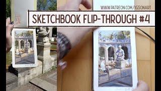 Watercolor & gouache sketchbook flip through #4 by IgsonArt (Iga Oliwiak) - 2016-2017