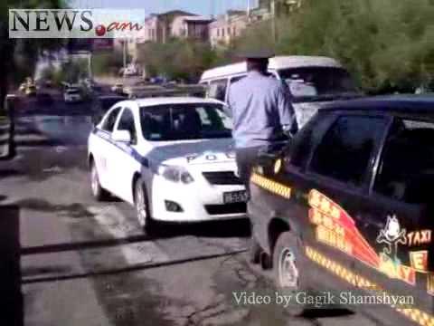 Taxi Run Over A Man In Yerevan, Armenia, May 27, 2011