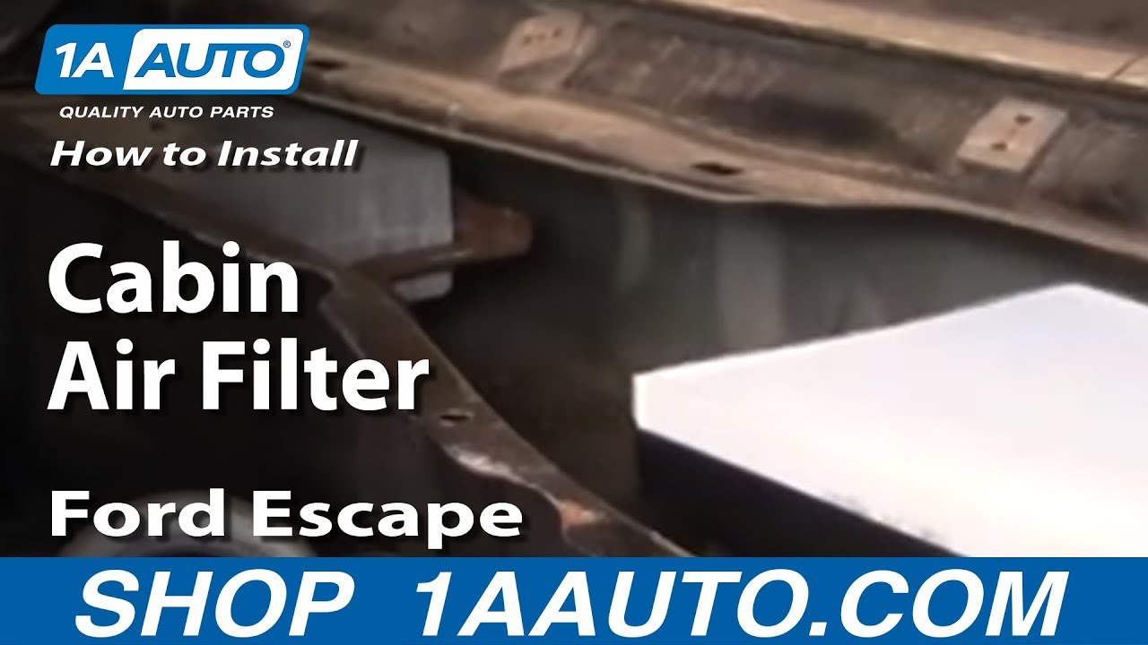 how to install replace cabin air filter ford escape 01
