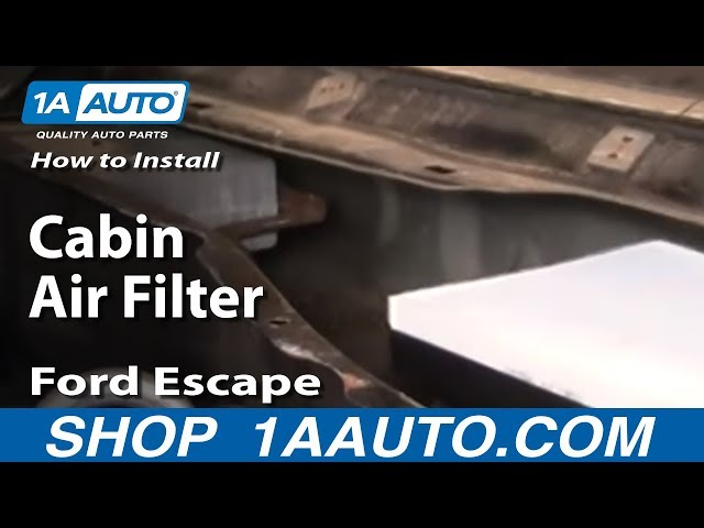 How To Install A Cabin Air Filter In 2003 Ford Escape Xltrhwikihow: 2001 Explorer Cabin Filter Location At Elf-jo.com