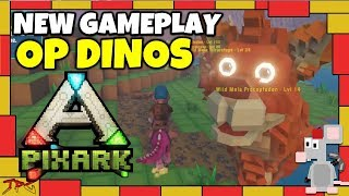 NEW PIXARK GAMEPLAY - Op Dinos - Quests - Inventory - Map/Biome Info