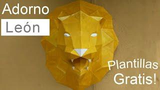 Cómo hacer un LEÓN con PAPEL cartulina - Papercraft Especial 10 mil subs