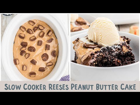 Slow Cooker Peanut Butter Chocolate Cake