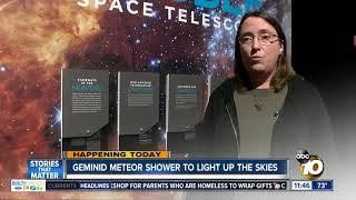 Geminid meteor shower to light up night sky