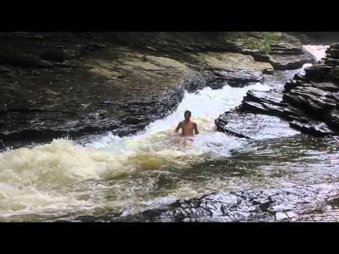 Ohiopyle Meadow Run Natural Water Slide (High Water!)