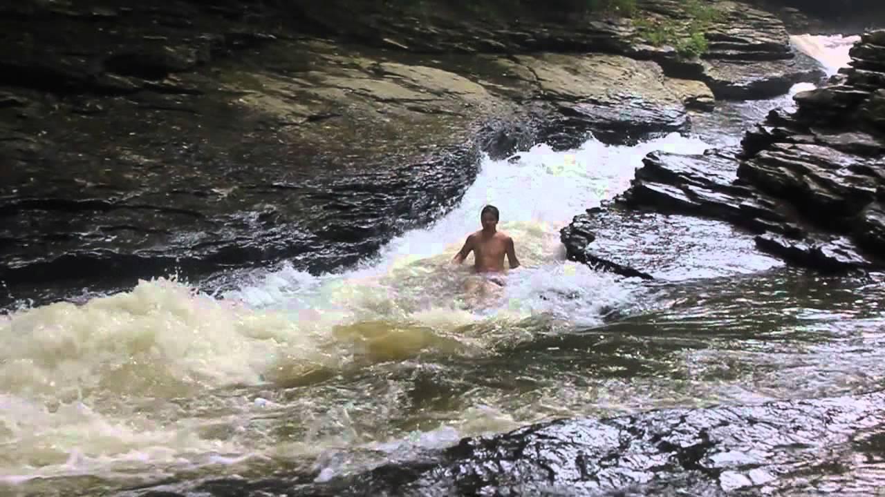 Sliding Rock Natural Water Slide