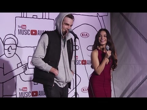 Vanessa Hudgens Talks Live Fight Scene- 2013 YouTube Music Awards