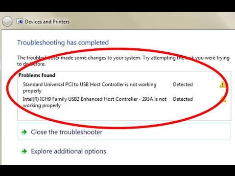 Fix Standard Universal PCI to USB Host Controller is not working properly  in windows 7/8/10