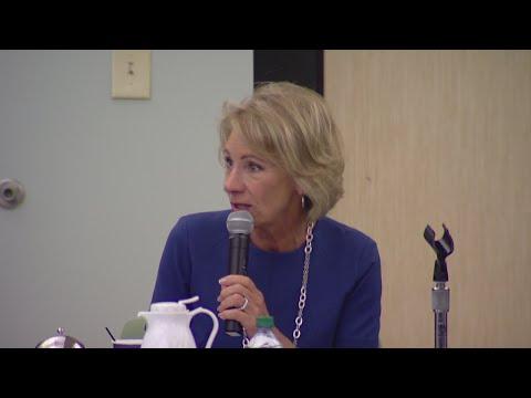 US Secretary of Education Betsy DeVos visits Indiana schools