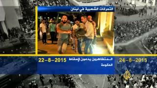 مسار الاحتجاجات الشعبية في لبنان