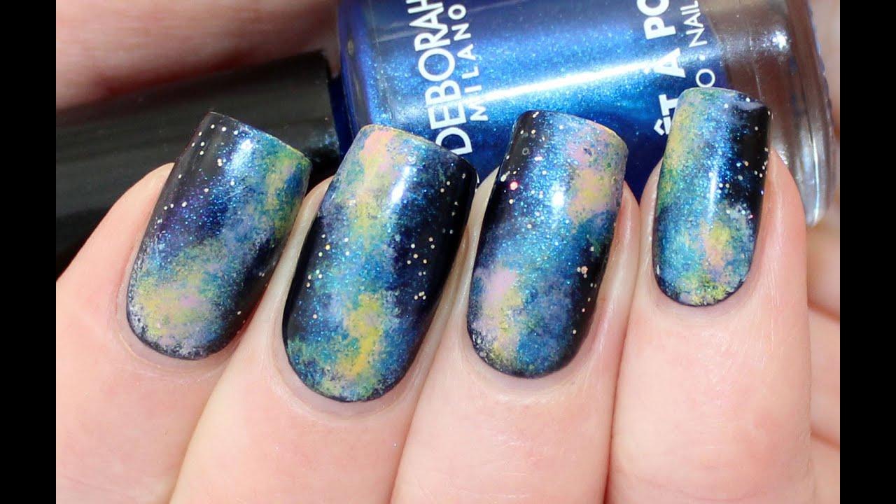 Galaxy nail art tutorial for deborah milano beauty club youtube prinsesfo Gallery