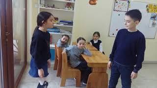 Фрагмент занятия в группе обучения разговорному осетинскому языку школьников 1 4 классов