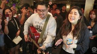 KUNG DI RIN LANG IKAW DECEMBER AVENUE FEATURING MOIRA LIVE ACOUSTIC AT 19EAST BUSKING STYL ...