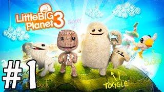 LittleBigPlanet 3 en Español - Videos de Juegos de Dibujos Animados Infantiles para Niños - Parte 1