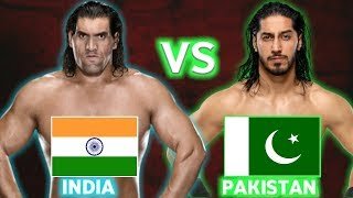 The Great khali Vs Mustafa Ali | Who Is Better | India Vs Pakistan |WWE