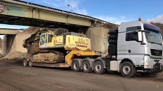 Loading And Transporting The Liebherr 964 - Fasoulas Heavy Transports