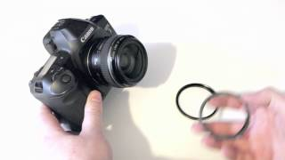 Save money on camera filters by using step up and step down adapter rings