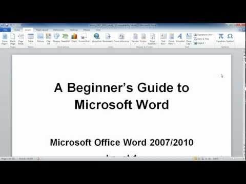 Microsoft Word 2010:  Symbols and Special Characters
