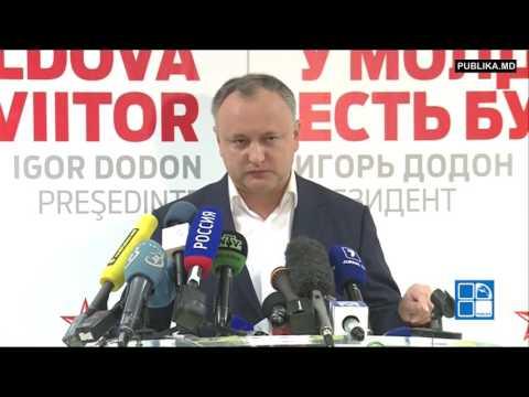 Igor Dodon: Voi fi preşedintele tutror, şi celor care vor în UE şi celor care vor alături de Rusia