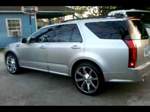 srx with escalade fender vents and kmc slides - YouTube
