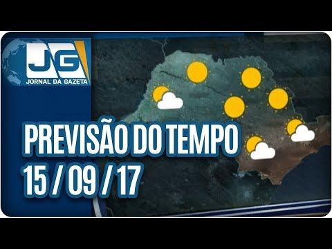 Previsão do Tempo - 15/09/2017