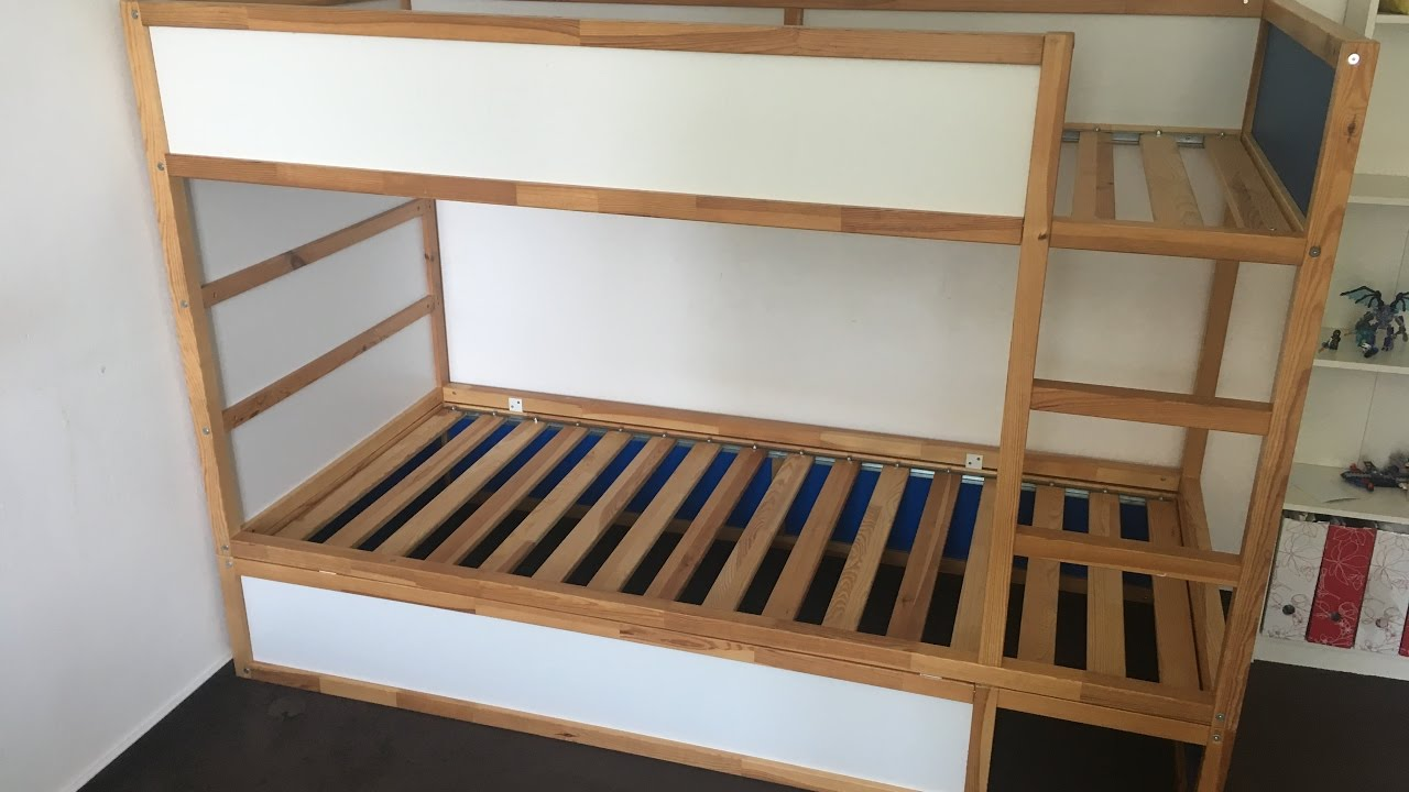 Ikea Etagenbett Mydal : Ikea hack kura bunk bed youtube