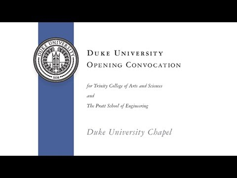 2017 Convocation for New Undergraduate Students