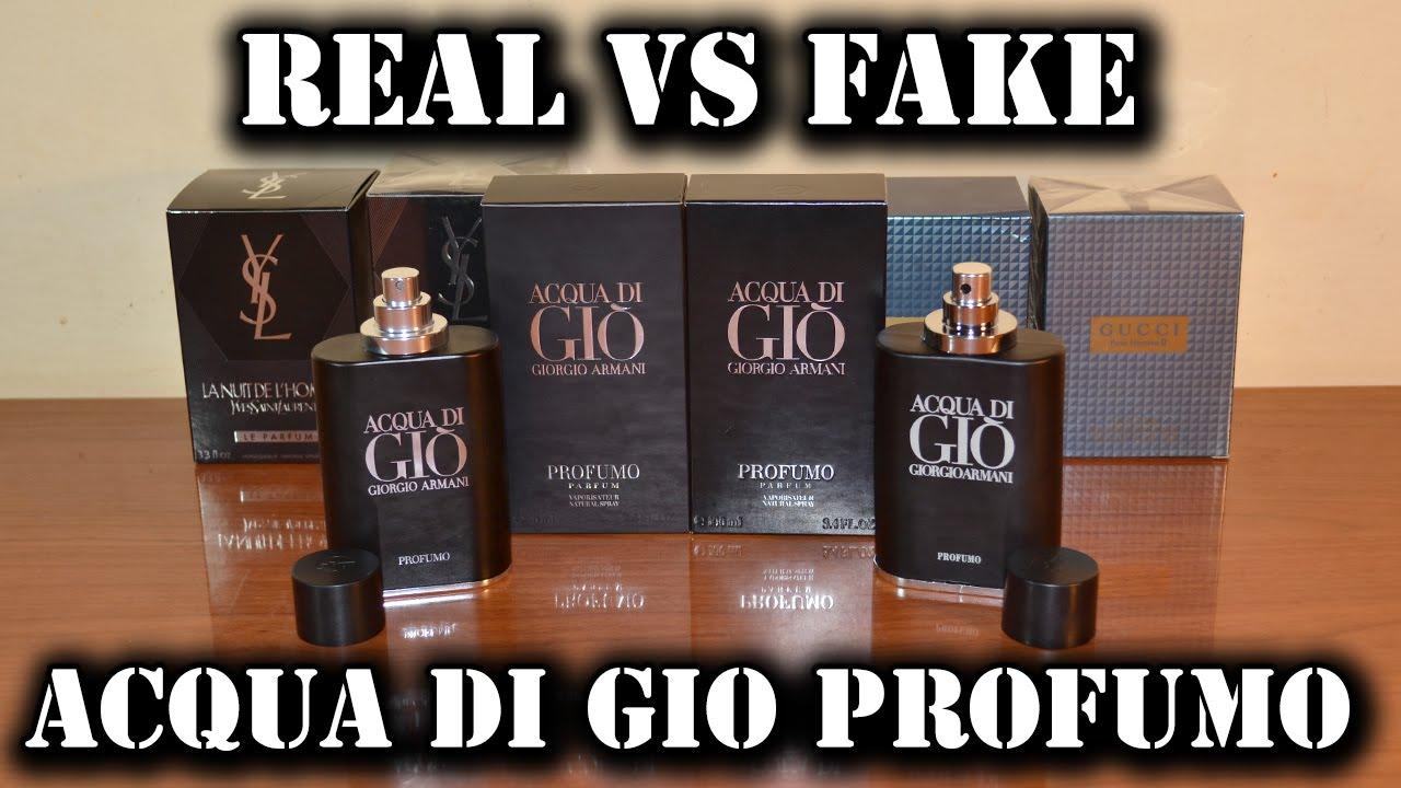 Fake Fragrance Acqua Di Gio Profumo By Giorgio Armani Youtube