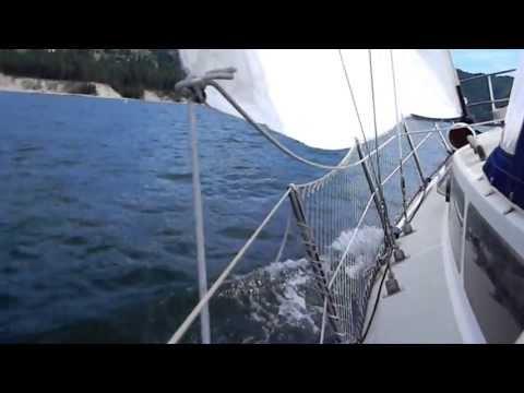 Sailing Aquila on Lake Roosevelt