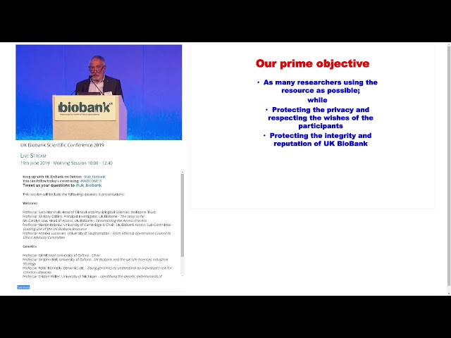 Professor Martin Bobrow -  Guiding use of the UK Biobank Resource