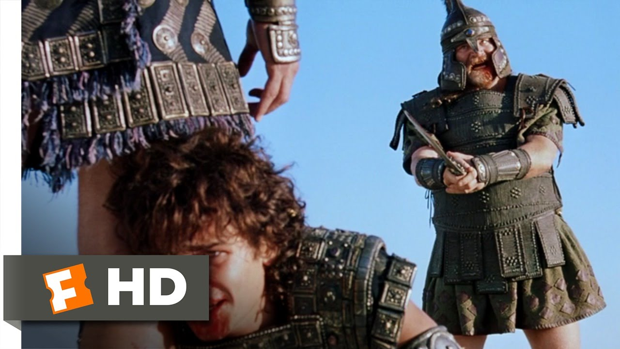 troy 25 movie clip hector saves paris 2004 hd youtube