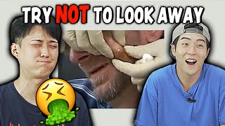 Korean guys React To Try Not To Look Away Challenge!!!