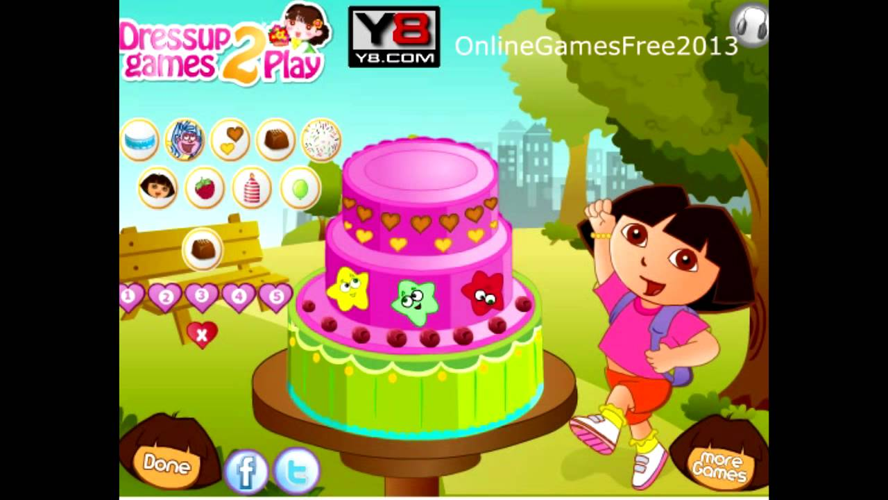 Dora The Explorer Happy Birthday Cake Decor Game Youtube