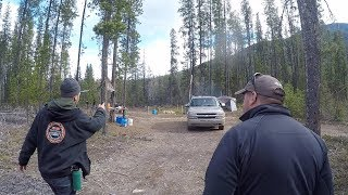 Grizzly Country Electric Fence Camping - BEAR EXPERT SHOWS UP