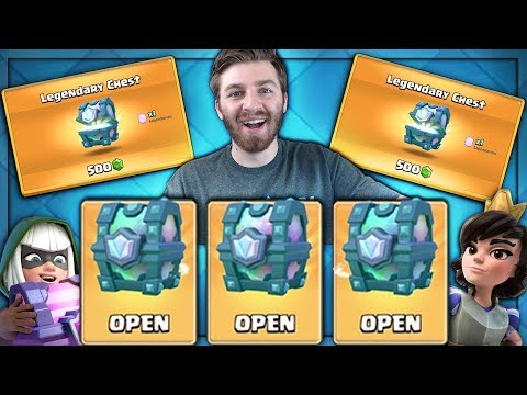 OPENING x3 LEGENDARY CHESTS & SUPER MAGICALS!   Clash Royale   3 LEGENDARY CHEST IN 4 DAYS!
