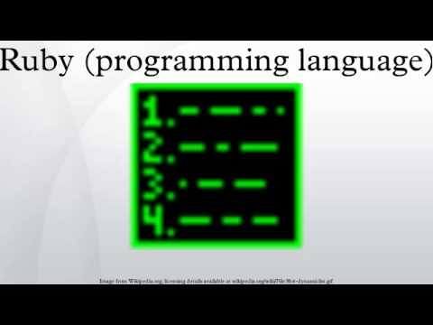 Ruby (programming language)