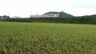 鉄道のある風景 島根県簸川郡斐川町にて (18-Sep-2011) Lahdscape with railway JAPAN