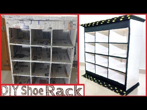 DIY Big Kitchen Storage rack using newspaper - Diy Spice Organiser for Kitchen