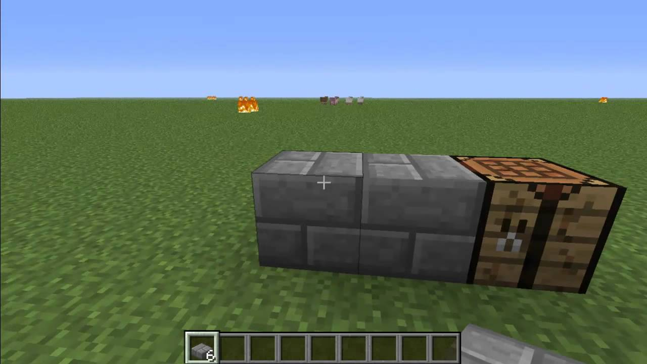 how to make stone brick slabs in minecraft youtube