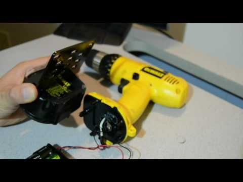 12V Dewalt Cordless Drill conversion to Lithium 18650 cells