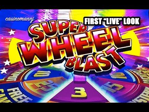 "SUPER WHEEL BLAST - First ""LIVE"" Look! - Slot Machine Bonus - 동영상"